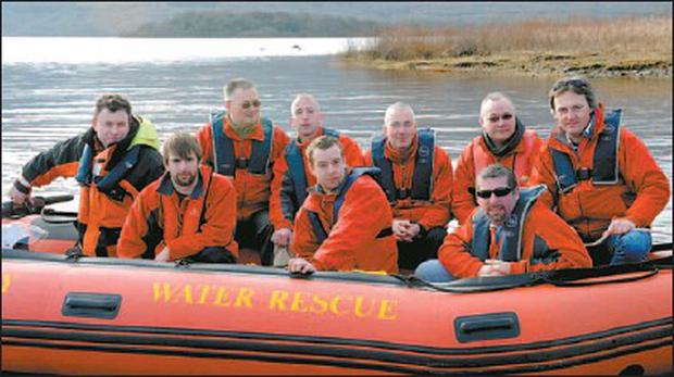Looking for a home: Killarney Water Rescue members Jimmy Sweetman, Diarmuid Galvin, John Wilson and John Lynch with (back from left) Tommy McGillycuddy, Don Courtney, John Shanahan, John O'Loughlin and John Coyle. Credit: Photo by Michelle Cooper Galvin