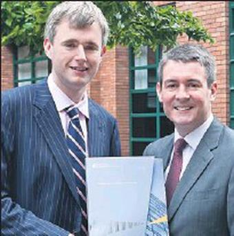 Denis McCarthy, MD of Annadale Technologies, Killorglin, with Frank O'Keeffe, Ernst & Young Partner-in-Charge of the Entrepreneur Of The Year programme.