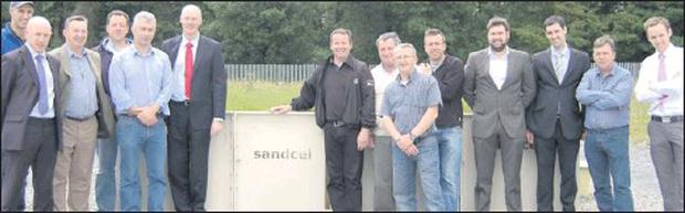 Staff at Killarney Plastics with the new product Sandcel. From left to right: Billy Horan, James Butler (Tricel sales manager), Michael Murphy, Donal Moynihan, Diarmuid Mangan, Mike Stack (Managing Director) Brian O'Riordan, John Cullinane, Tim...