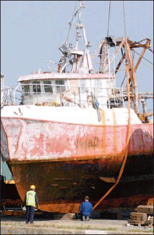 The ill-fated Maggie B is currently in dry dock in Arklow.