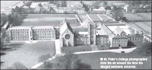 St. Peter's College photographed from the air around the time the alleged incidents occurred.