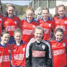 The Curracloe girls who clinched the Under-14 title.
