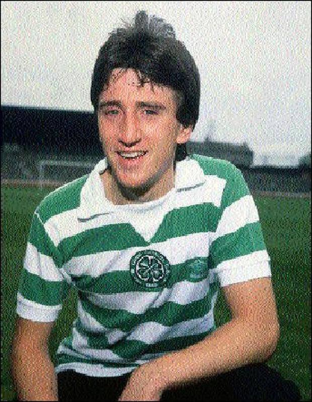 Pat McCluskey in his Celtic playing strip.