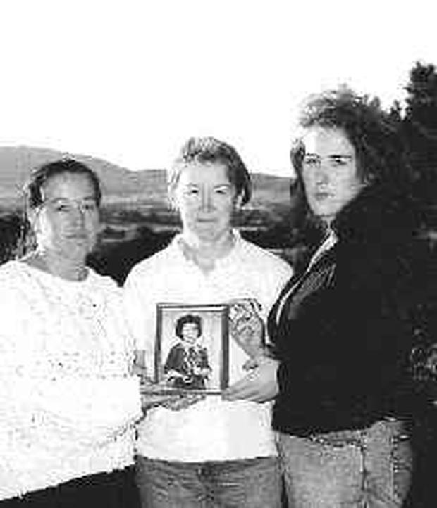 Bernadette Connolly's sisters Patricia, Anne and Kerrie.
