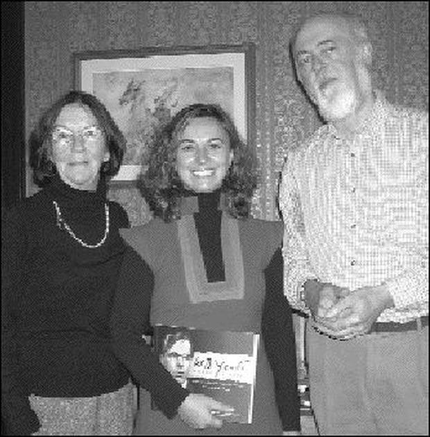 Noreen Egan and Gerard Scott, Sligo Spanish Society pictured with Spanish poet, Julia Piera (centre), who gave a reading of her work at the Yeats Memorial Building.