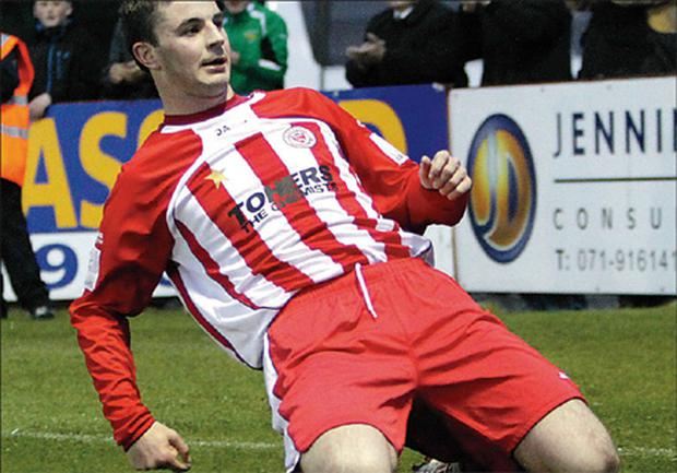 Padraig Amond in his Sligo Rovers days