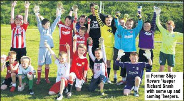 Former Sligo Rovers 'keeper Richard Brush with some up and coming 'keepers.
