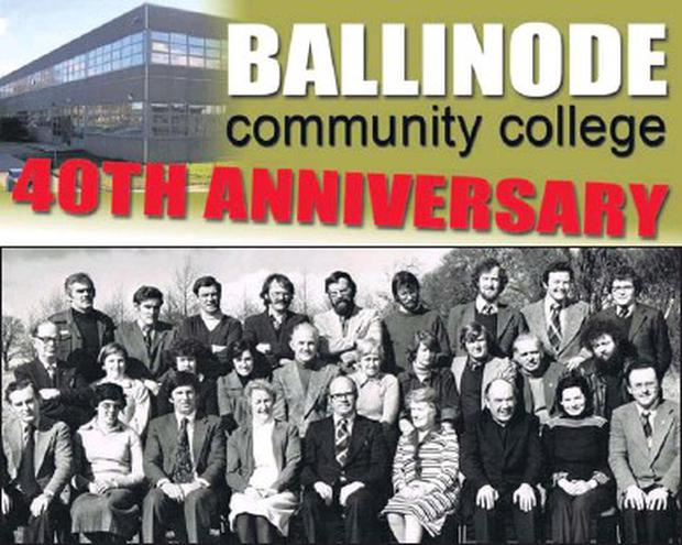 Ballinode Community College teaching staff in 1979.