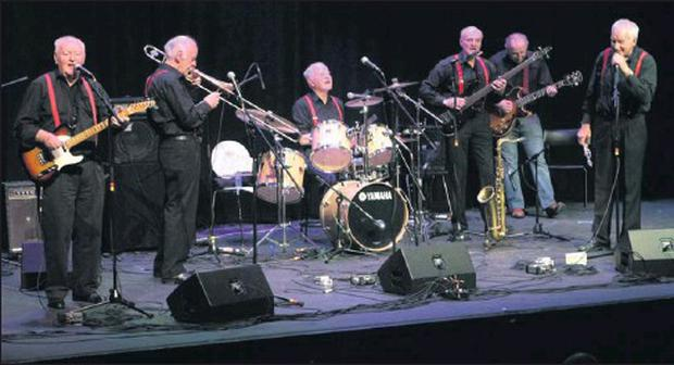 'The Jazz Ladds' in full flow during Saturday night's concert.