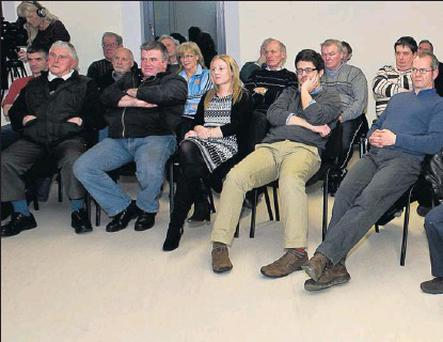 A group of people who attended a meeting in the Family Resource Centre Tubbercurry in connection with the formation of a 'Men's Shed' group in Tubbercurry. The meeting was addressed by John Evoy of the Irish Men's Shed Association Credit: (Photograph: Tom Callanan)