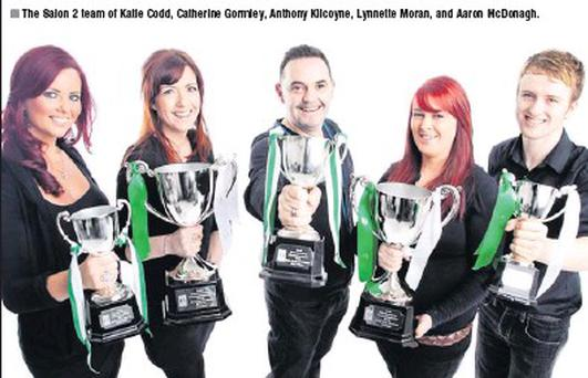 The Salon 2 team of Katie Codd, Catherine Gormley, Anthony Kilcoyne, Lynnette Moran, and Aaron Mcdonagh.