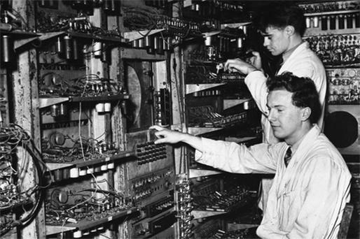 The world's first computer, designed at Manchester University in 1948. Technology like this has changed the way we work