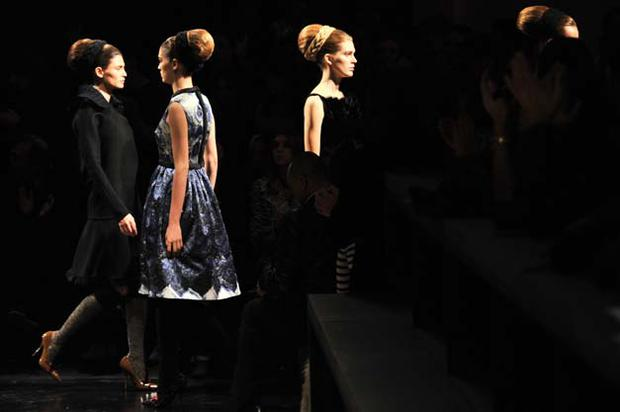 Prada featured the A-Line extensively among the AW10 looks. Photo: Getty Images