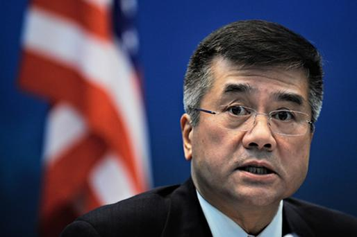 Gary Locke, US Commerce Secretary, said that digital piracy represented a threat to America's economic growth. Photo: Getty Images