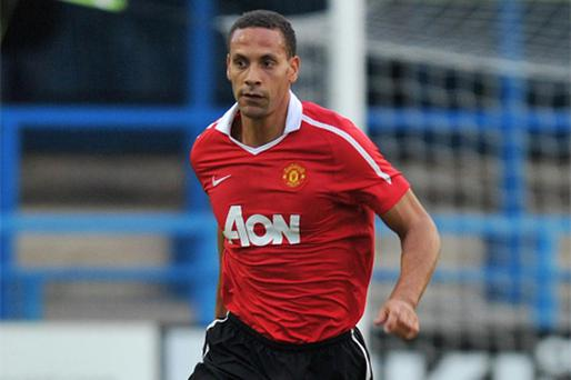Rio Ferdinand was back in action last night for Manchester United's reserves against Oldham Athletic