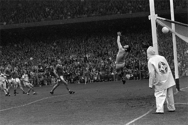Offaly's Seamus Darby scores the goal which won the 1982 All-Ireland football final and ended Kerry's hopes of winning five consecutive titles