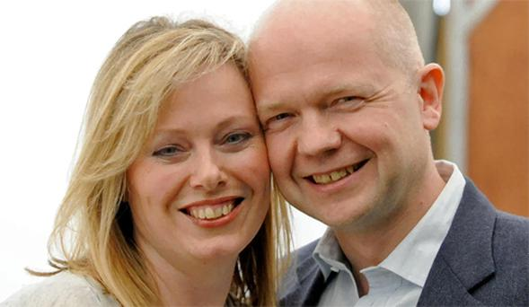 Former Conservative Party leader, and current British foreign secretary, William Hague and his wife Ffion have blamed rumours about his sexuality on their inability to have any children so far