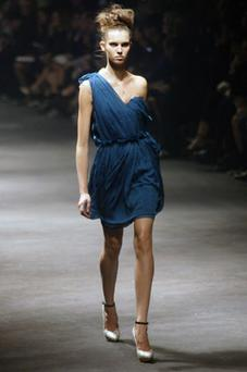 The Lanvin collection for Spring 2010 at Paris Fashion Week was femininity to the core. Pleats and ruffles being the main theme. Photo: All images from Getty Images.
