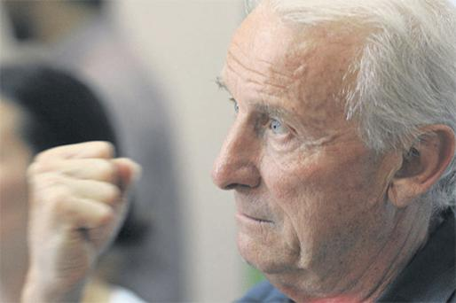 Ireland boss Giovanni Trapattoni was in confident mood during yesterday's press conference in Yerevan, Armenia