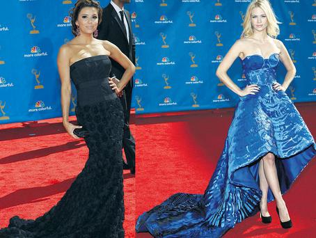 From left: Eva Longoria and January Jones
