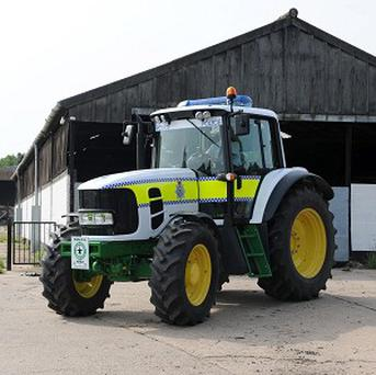 Lincolnshire Police's John Deere 6630 tractor will be used to fight crime