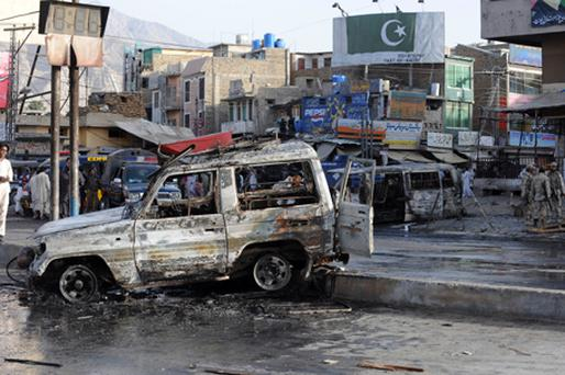 The scene of the bombing in Quetta. Photo: Getty Images