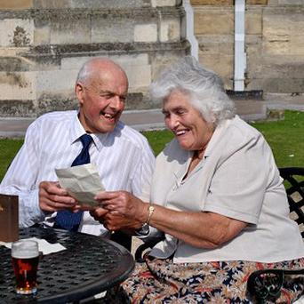 Eric Pashley and Winnie Pettinger have been reunited with their love letters