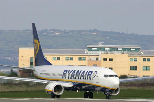 In the 12 months to August 10, Ryanair carried 70.9 million passengers. Photo: Bloomberg News