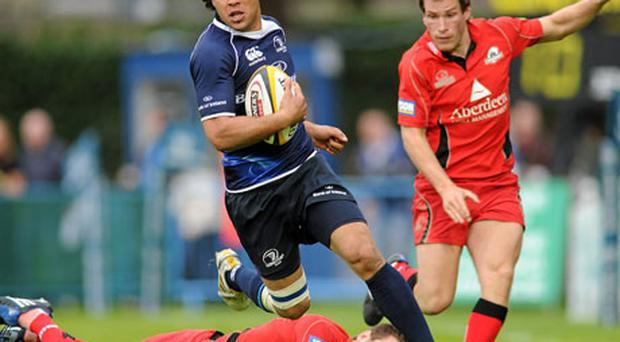 Isa Nacewa, here skipping by a tackle from Greg Laidlaw of Edinburgh, needs to be moved away from the out-half role.