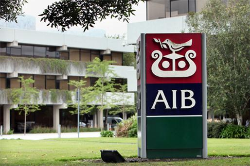 At the end of the day AIB had fallen 5.7pc to 76c. Photo: Bloomberg News