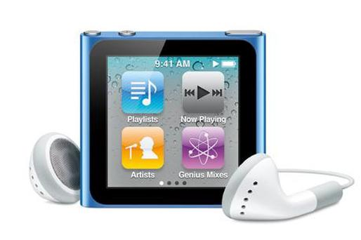 Apple's new iPod nano is a dramatic and perhaps ill-advised departure from the design of previous models Photo: Apple