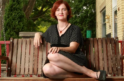 Author Emma Donoghue pictured at her home in Ontario, Canada