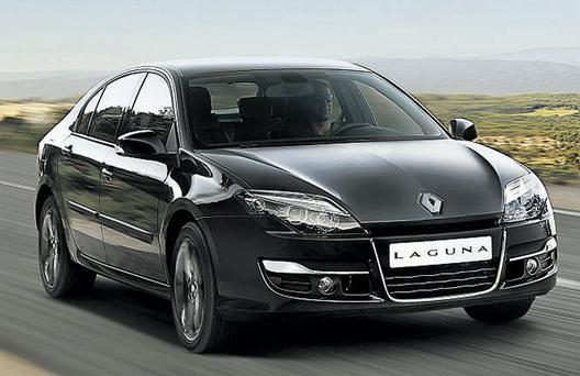 The new Renault Laguna which will be unveiled at the Paris Motor Show