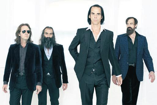 SEEDS OF CHANGE: The Grindermen, from left, Martyn P Casey, Warren Ellis, Nick Cave and Jim Sclavunos