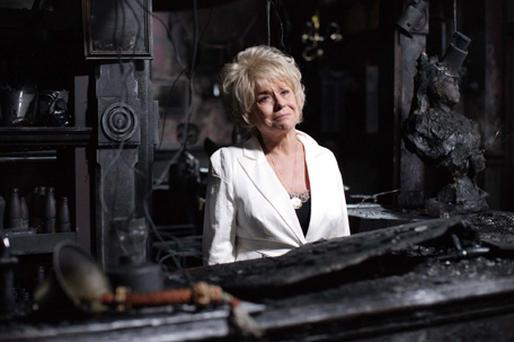 Peggy Mitchell (Barbara Windsor) is to bid her final farewell to the Queen Vic. Photo: PA