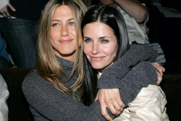 Friends reunited: Courteney Cox and Jennifer Aniston. Photo: Getty Images