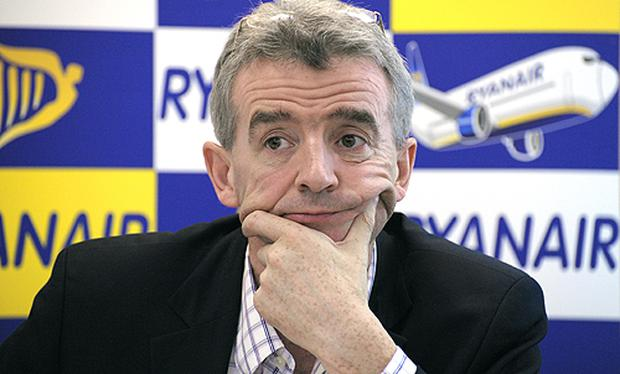 Michael O'Leary claims there is no link between man-made carbon and climate change. Photo: Getty Images