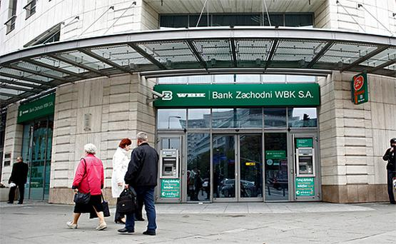 A branch of Bank Zachodni WBK SA in Warsaw. Photo: Bloomberg