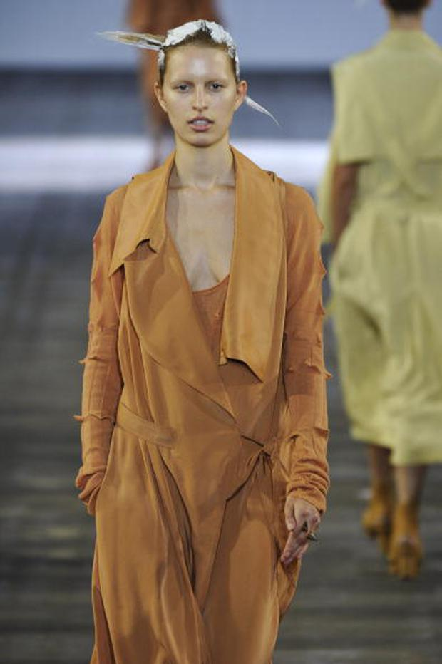 NEW YORK - SEPTEMBER 11: A model walks the runway at the Alexander Wang Spring Summer 2011 fashion show during New York Fashion Week at on September 11, 2010 in New York City. (Photo by Karl Prouse/Catwalking/Getty Images)