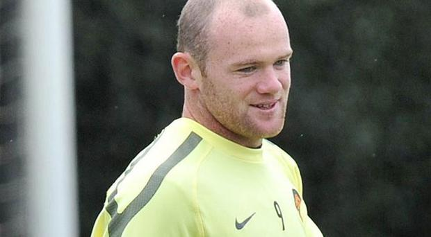 Wayne Rooney during the training session at Carrington Training Ground. Photo: PA