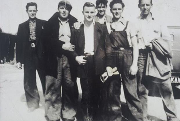 A group of workers in England in 1958