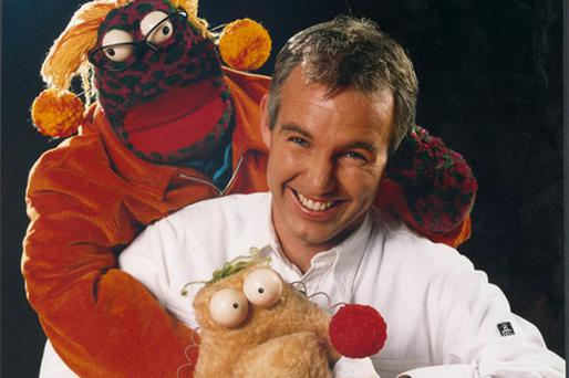 Ray D'Arcy with the show's successful sidekicks Zig and Zag