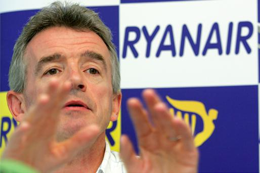 Last week Michael O'Leary called for co-pilots to be removed from the flight deck to save money. Photo: Bloomberg News