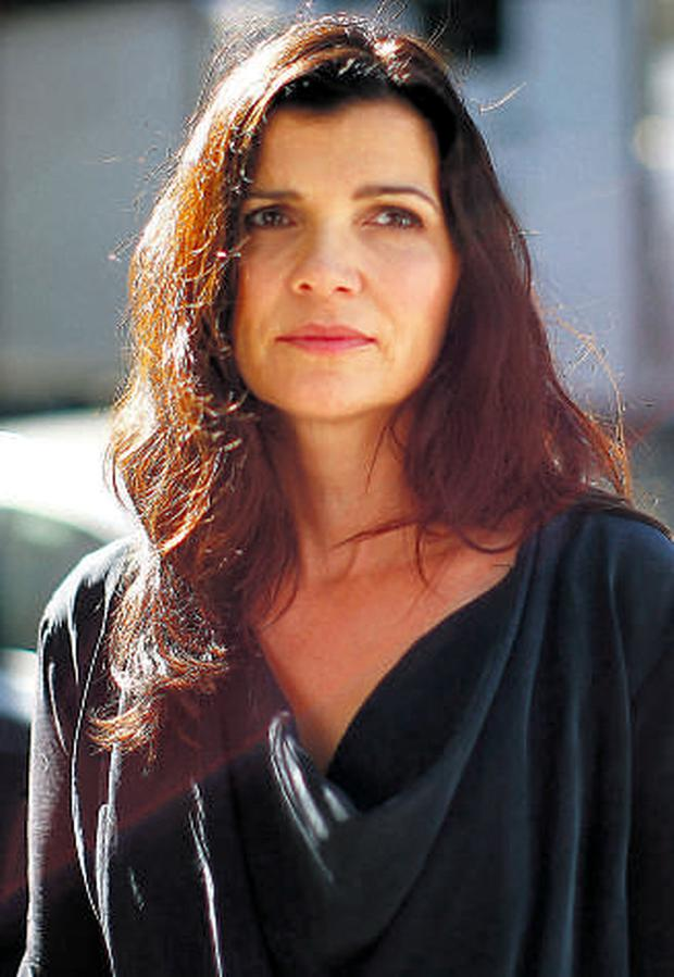 Ali Hewson in New York before the Edun collection was shown.