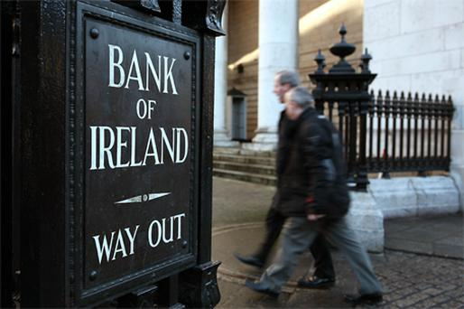 The revision puts Bank of Ireland's outlook on par with peers AIB and Irish Life & Permanent, even though Bank of Ireland (BoI) has already recapitalised to the tune of more than €3bn. Photo: Bloomberg News