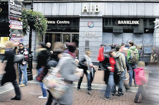 Allied Irish Banks, fresh from celebrating the sale of its stake in Bank Zachodni, tumbled 4.6pc to 75c as ING Group said the bank 'is not out of the woods yet', following the sale and is still 'likely' to end up in majority state ownership. Photo: Bloomberg News
