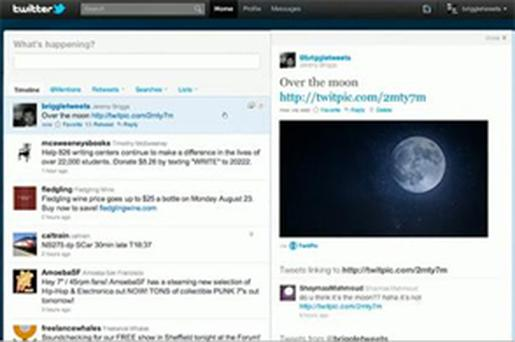 The new-look Twitter.com website will feature a multimedia pane, containing videos and photos that can be viewed from within the browser while also reading tweets. Photo: Twitter
