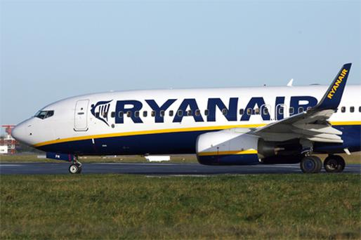Ryanair fell 5.53pc to €3.79. Photo: Bloomberg News