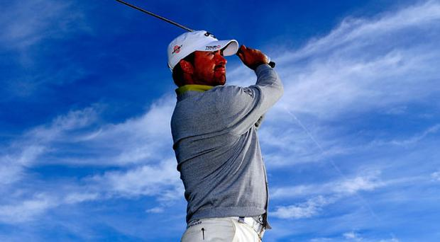 Fine tuning: Graeme McDowell get some practice in yesterday ahead of the Austrian Open. Photo: Getty Images
