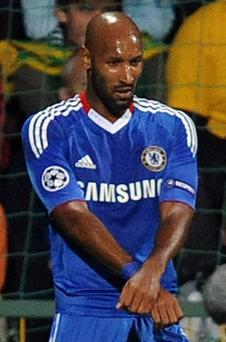 Nicolas Anelka reacts after scoring during the UEFA Champions League group F football match against MSK Zilina. Photo: Getty Images